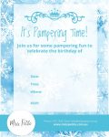 Miss Petite Frozen Invitation Template